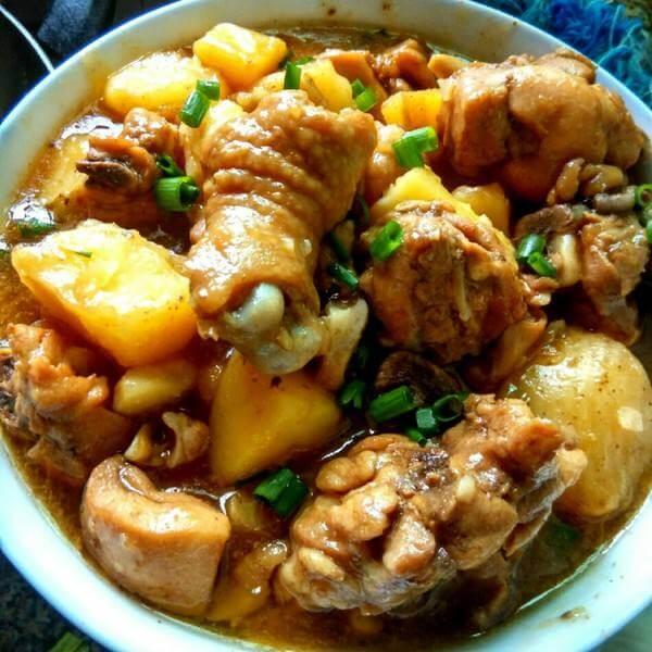 卤大骨头炖土豆