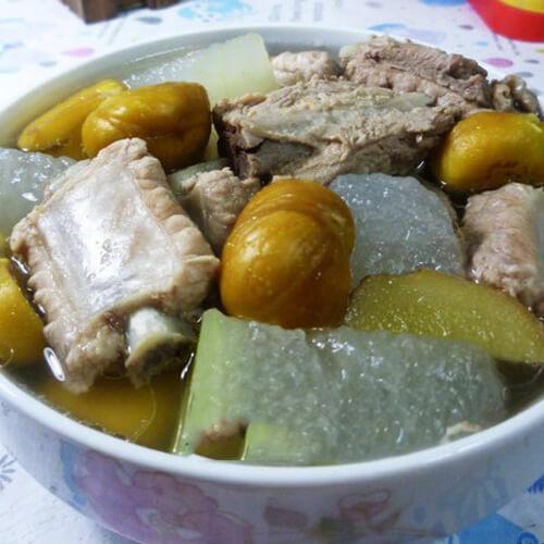 冬瓜板栗排骨汤