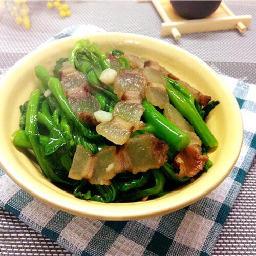 腊肉炒甜菜心