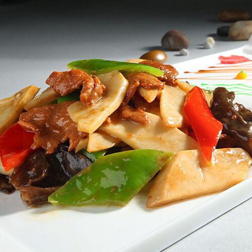 肉片滑炒杏鲍菇
