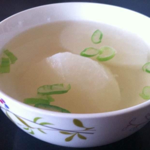 白萝卜肉沫汤