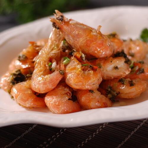 秋葵炒海虾