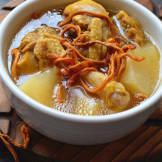 虫草花萝卜炖鸭汤