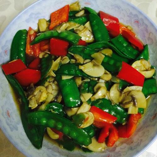 口蘑荷兰豆