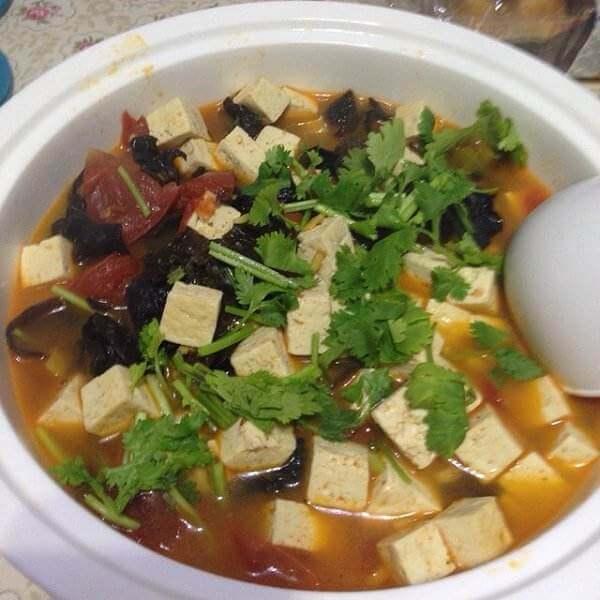 番茄木耳嫩豆腐