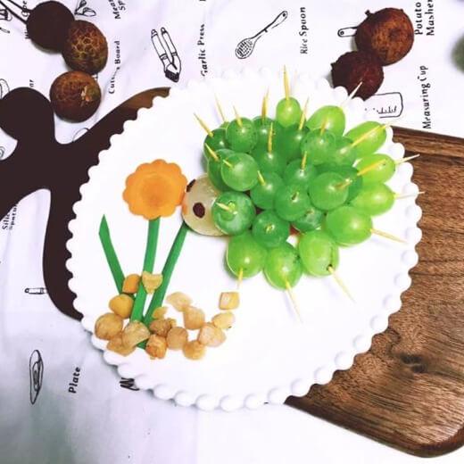 刺猬水果拼盘