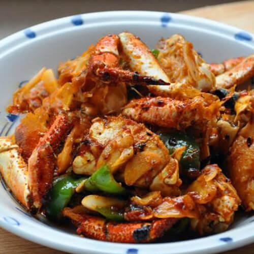 尖椒炒毛石蟹