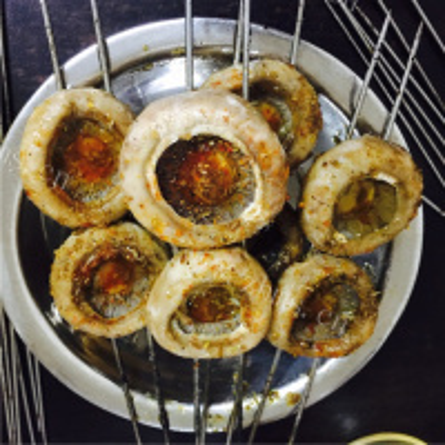 美味的无油烤蘑菇