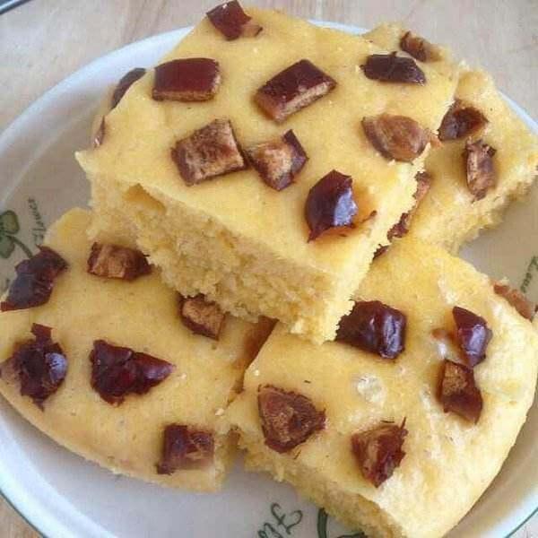玉米面枣发糕