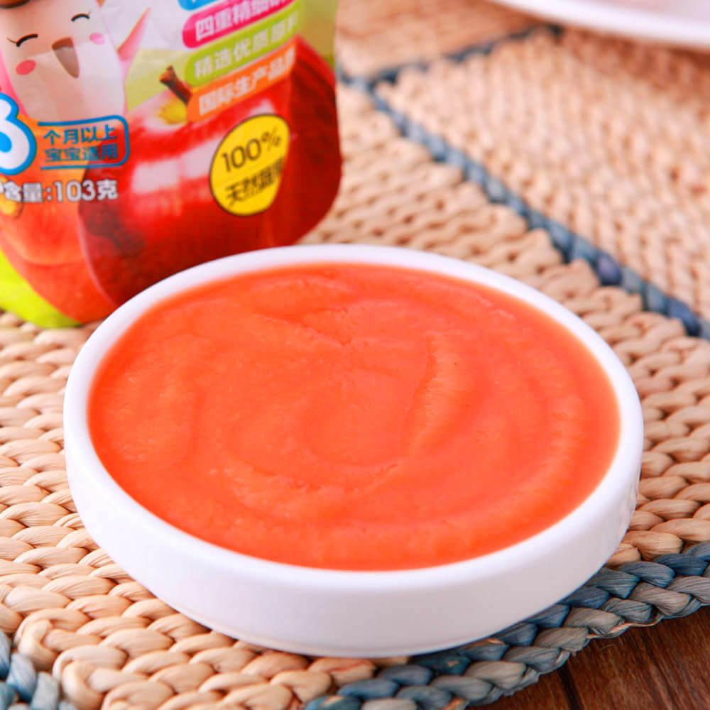 营养的宝宝辅食苹果胡萝卜泥