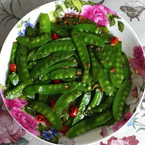 #爱美食#蒜香荷兰豆
