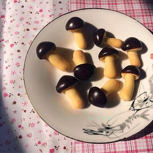 好吃的蘑古力饼干