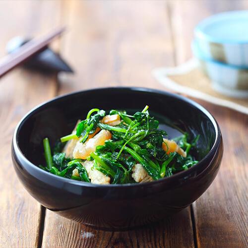 豌豆苗肉片汤