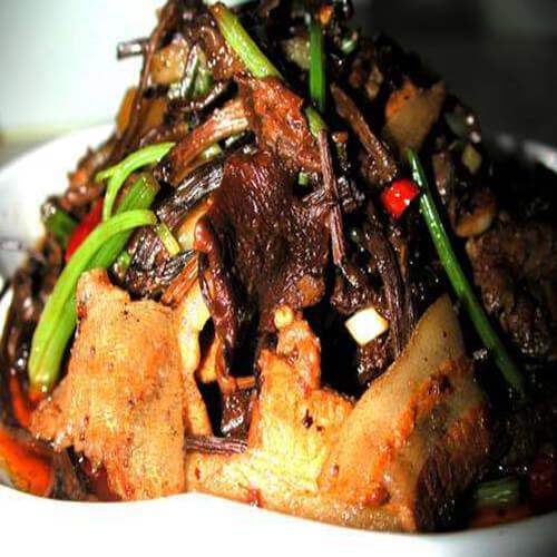 美味的瓜圃豆豉焖肉