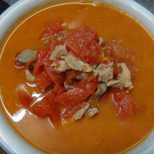 猪肝瘦肉番茄汤