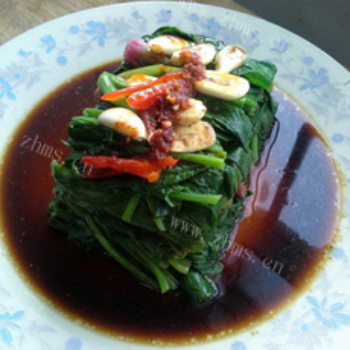 夏凉蒜子菠菜