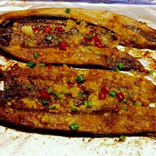 好吃的五香秋刀鱼