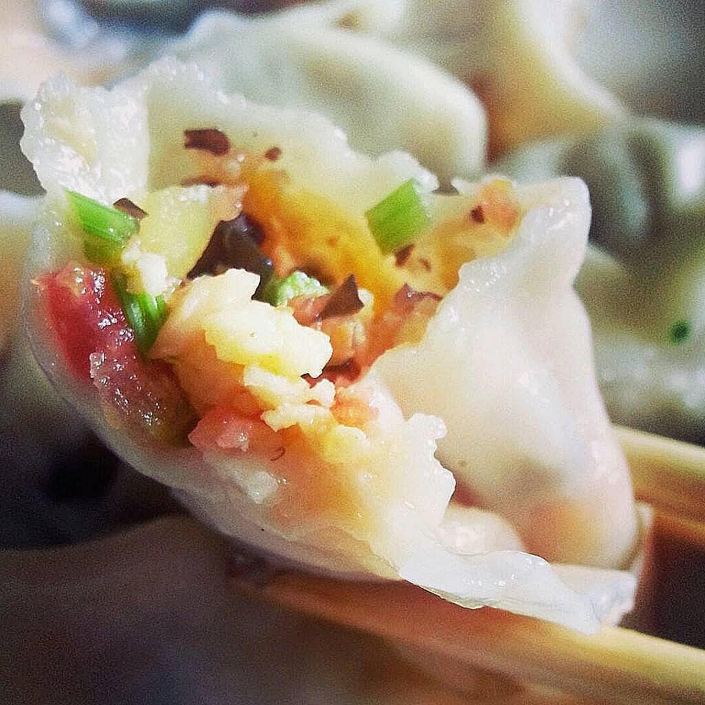 韭菜虾皮鸡蛋饺子
