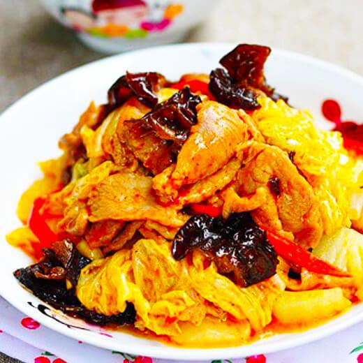 包菜炒油豆腐