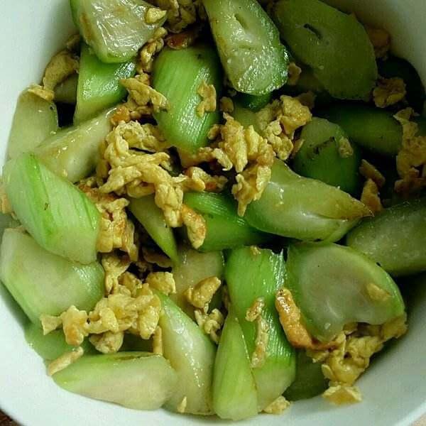 雪菜鸡蛋炒丝瓜