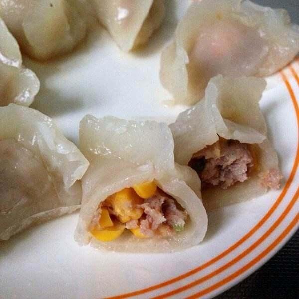 美味的木薯粉水晶水饺