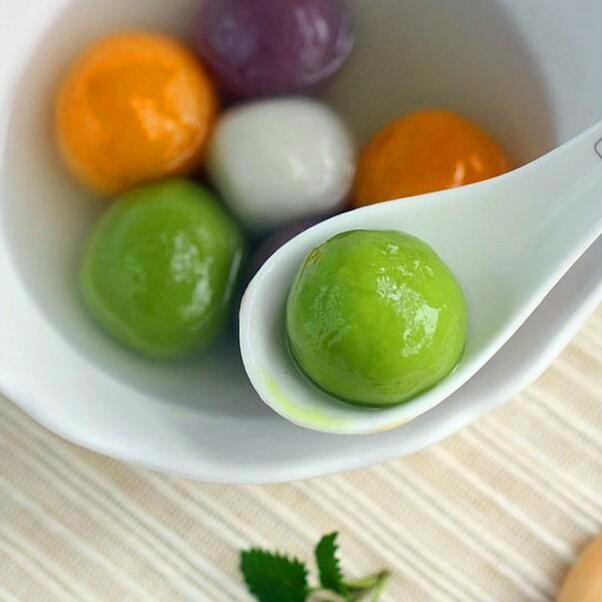 翡翠蔬菜汤圆