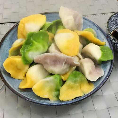 五色饺子闹中秋