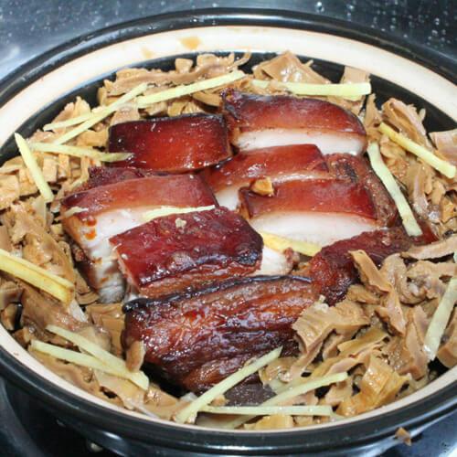 方笋干煮五花肉