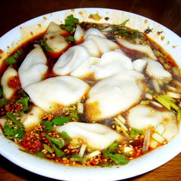 快手酸辣汤水饺