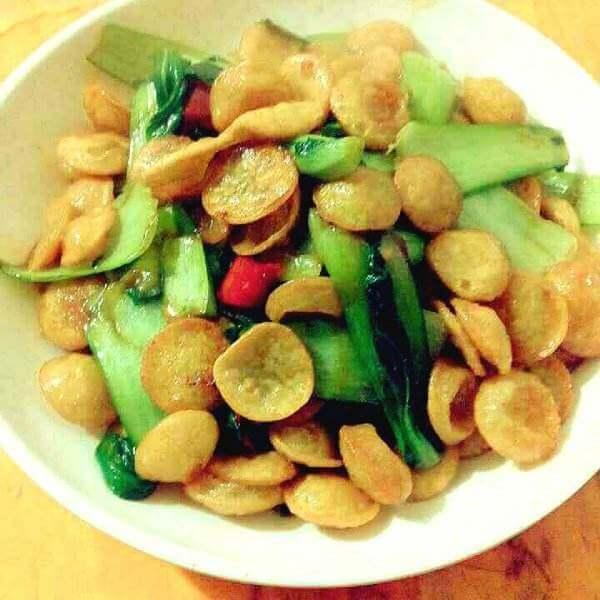 丝瓜焖豆饼