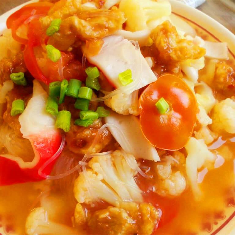 毛豆花菜螃蟹汤