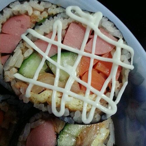 美味的宝宝辅食嫩豆腐寿司卷