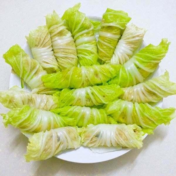 白菜炒豆包