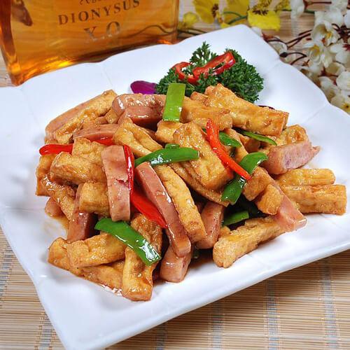 火腿烩豆腐