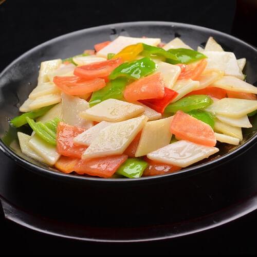 西红柿土豆青椒片