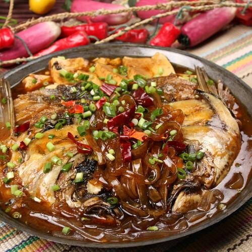 姜葱炆鱼头