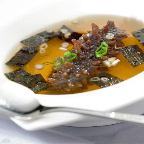 蒜仁海参鸡汤
