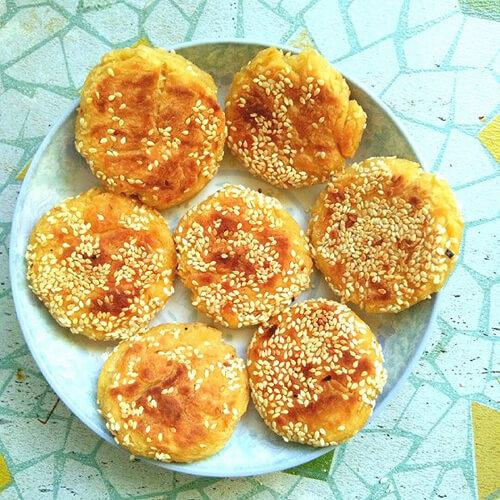 芝麻红薯糯米饼