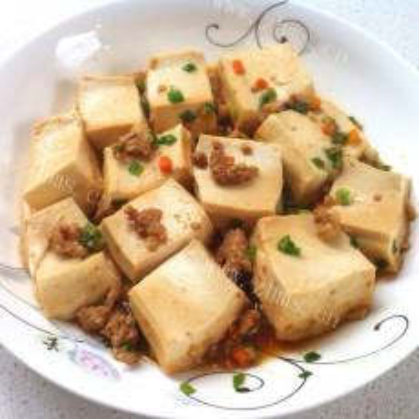 简单的家常葱烧豆腐