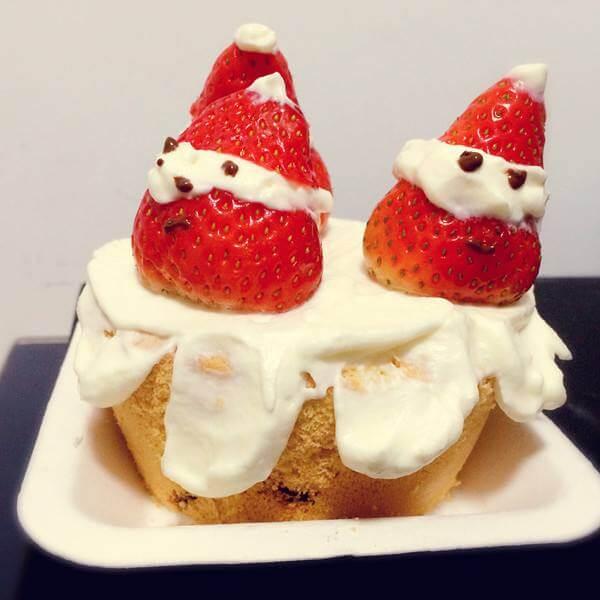 圣诞草莓迷你蛋糕