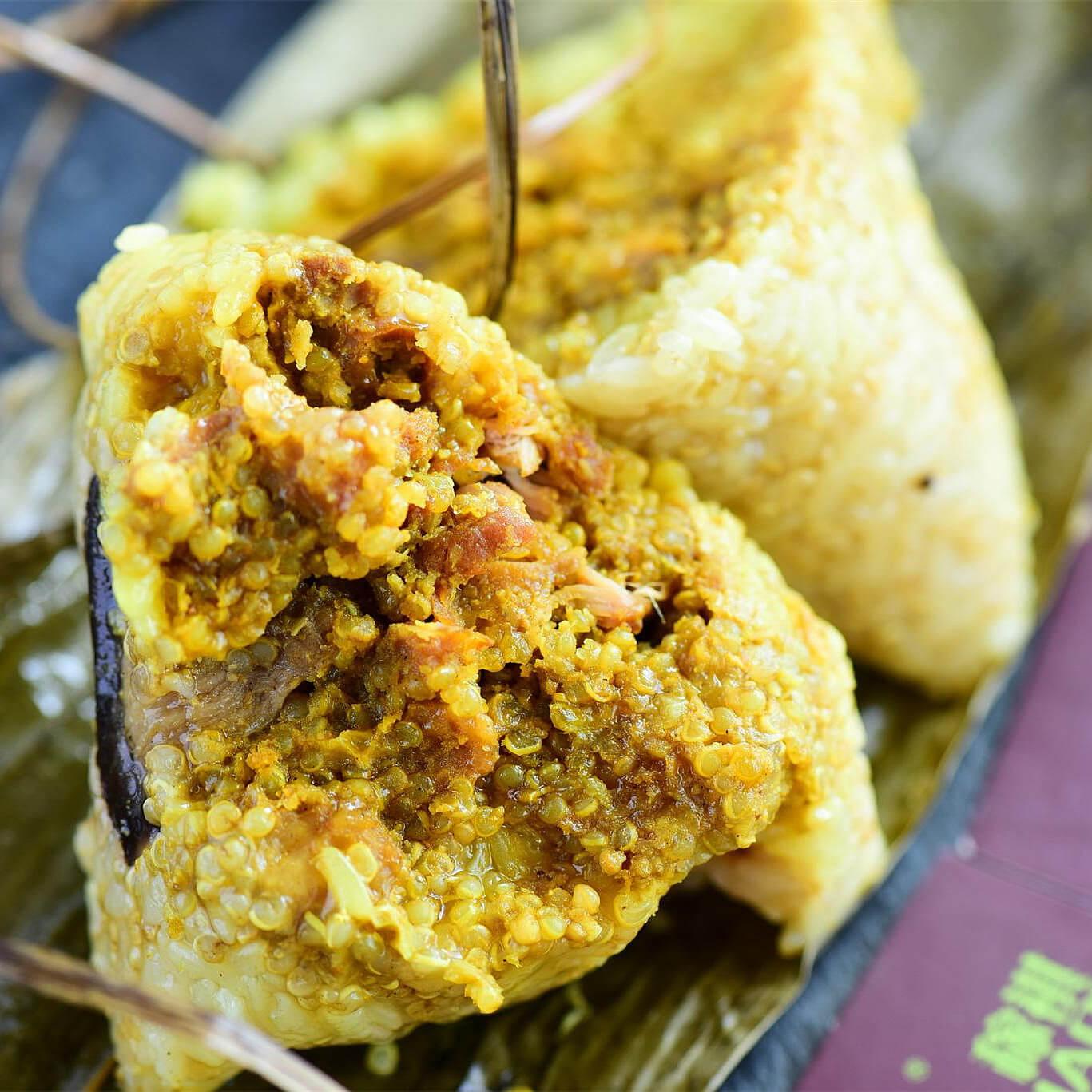 香菇鸡肉粽