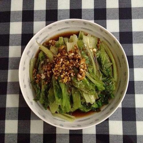 低脂少油酸蒜白灼生菜