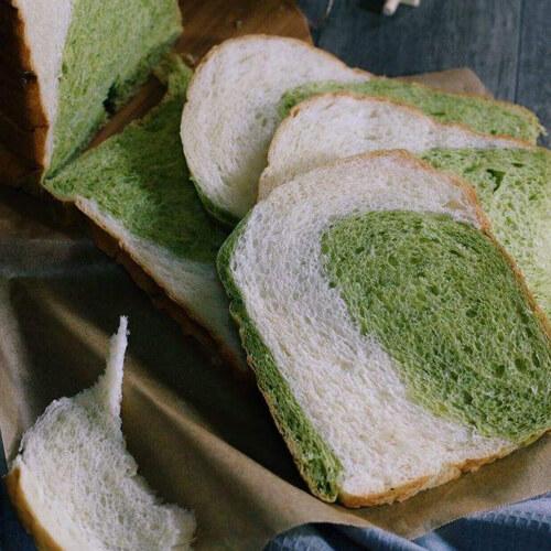 美味的双色吐司面包