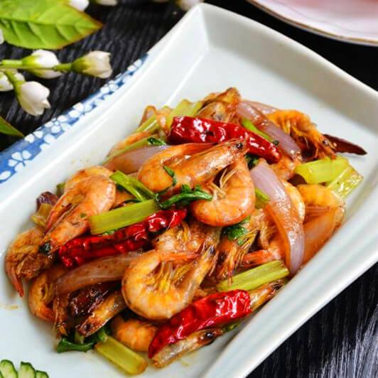 干锅洋葱海虾