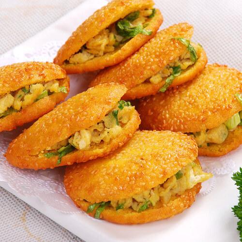 鲍芹菜叶子饼