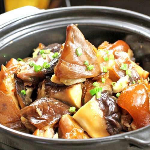 开胃下饭菜香辣猪蹄配香菇