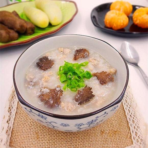 白参菌瘦肉粥