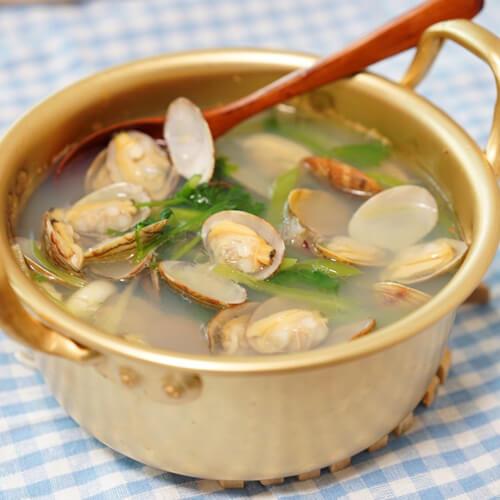 夏日蛤蜊芥菜汤