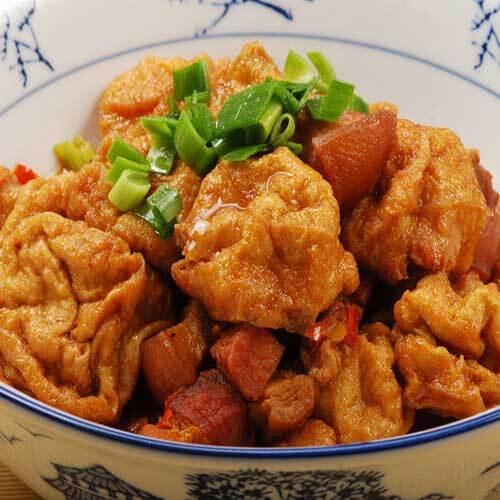 西红柿炒油豆腐