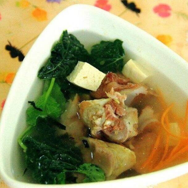 美味菜心排骨汤